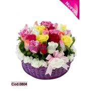 Arcoiris 24 rosas (Cod.0804)