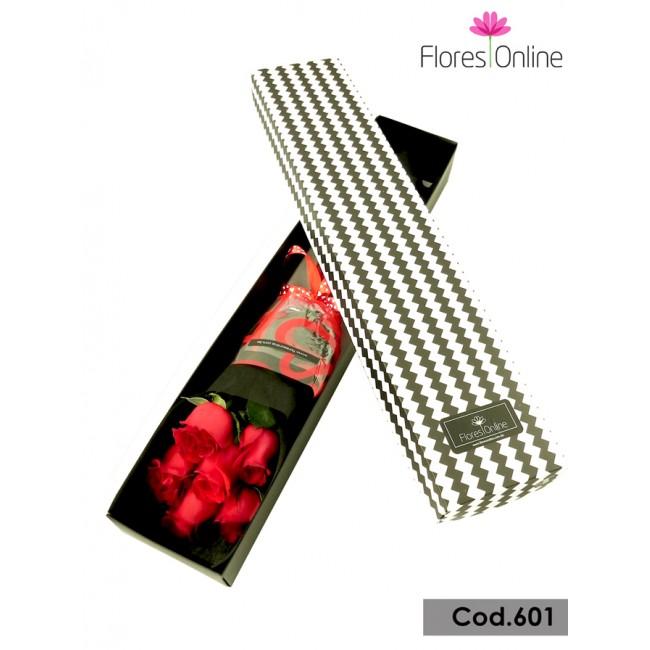Romatica Caja 6 Rosas(Cod.601)