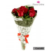 Romantico 6 Rosas Premium(Cod.603)