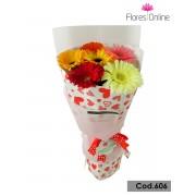 Bouquet Romantico 6 Gerberas(Cod.606)