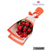 Bouquet plano 12 Rosas(Cod.609)