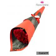 Bouquet Cono 25 Rosas Premium (Cod.619)