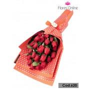 Bouquet Plano 25 Rosas Premium (Cod.620)