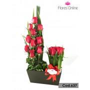 18 Rosas Premium  (Cod.637)