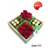 Jardin Romantico Rosas y Chocolates (Cod.177)