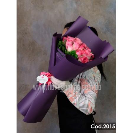 Bouquet Rosa Malibú (Cod.2015)