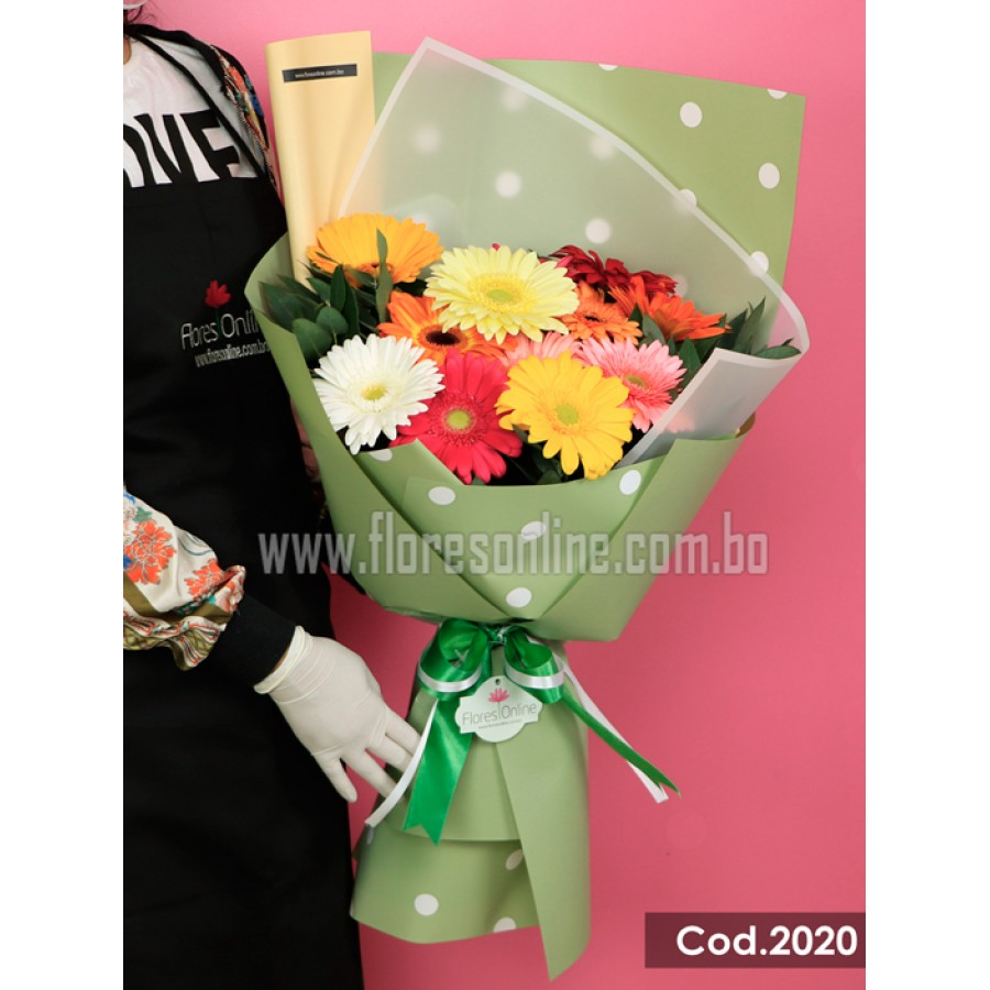 Bouquet Gerberas Multicolor (Cod.2020)