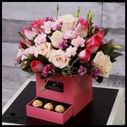 Rosas Pink y Chocolates(Cod.2062)
