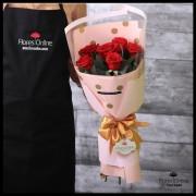Bouquet Espiral 6 Rosas Rojas (Cod.2090)