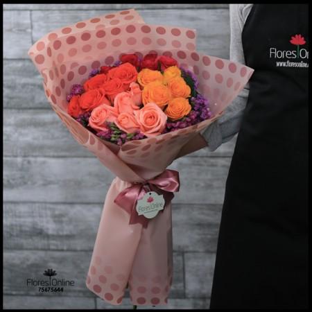 Bouquet Primavera 24 Rosas Mix (Cod.2126)
