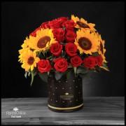 Amor de Primavera Rosas y Girasoles (Cod.2259)