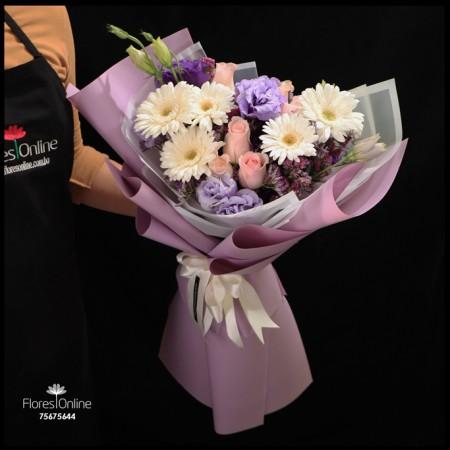 Bouquet Mix Lila Blanco (Cod.2269)