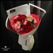 Bouquet Corazón Mix de flores (Cod.2307)