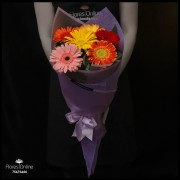 Bouquet Arcoíris 6 Gerberas (Cod.2357)
