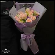 Bouquet 12 Rosas Champagne Lila (Cod.2358)
