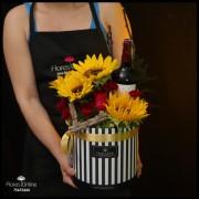 Girasoles Rosas y Vino(Cod.2374)