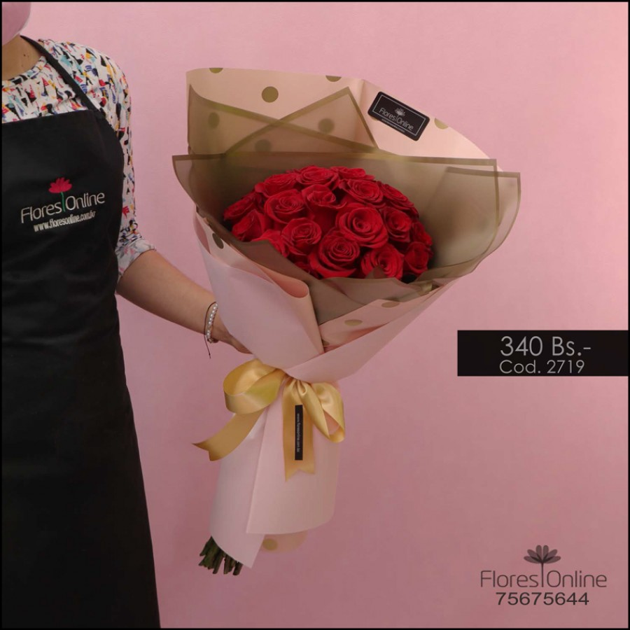 Bouquet Gold Rosa Roja (Cod.2719)