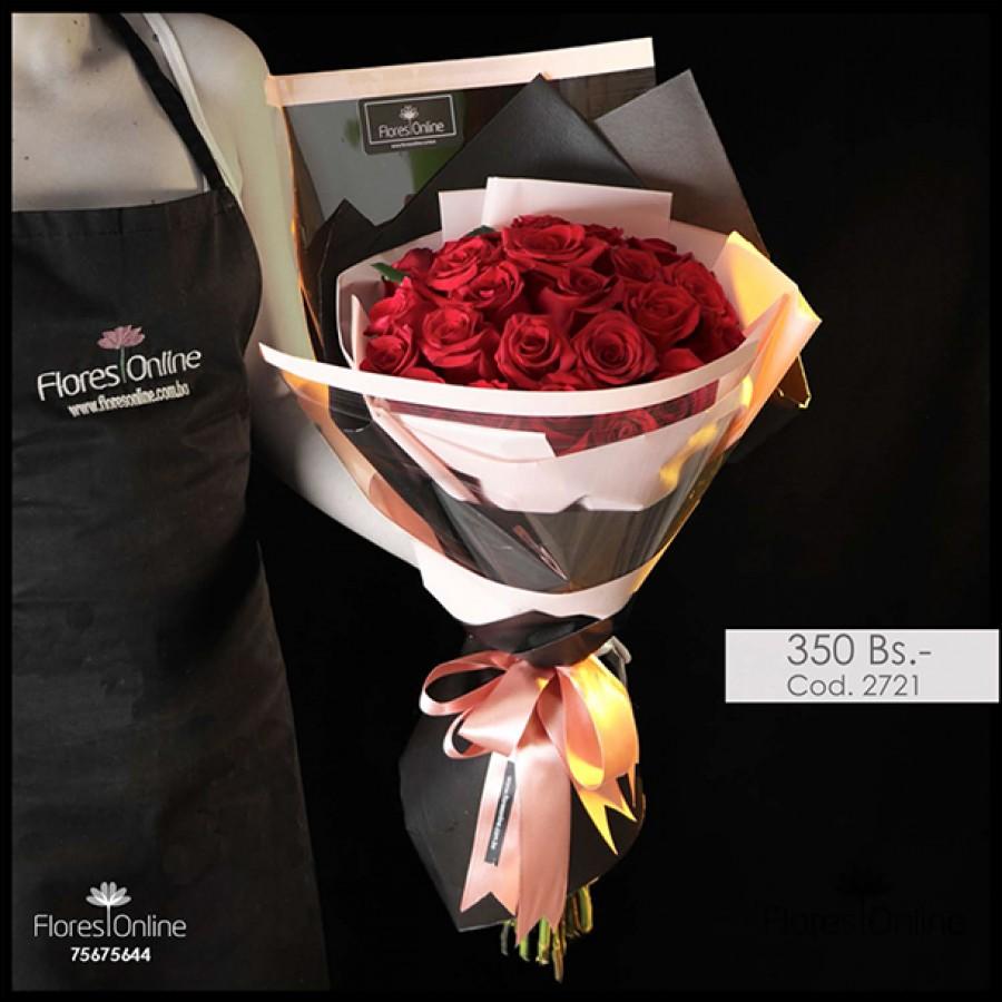 Bouquet Elite Rosa Roja (Cod.2721)