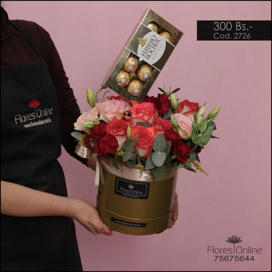 Arreglo Flores mix y Chocolates (Cod.2726)