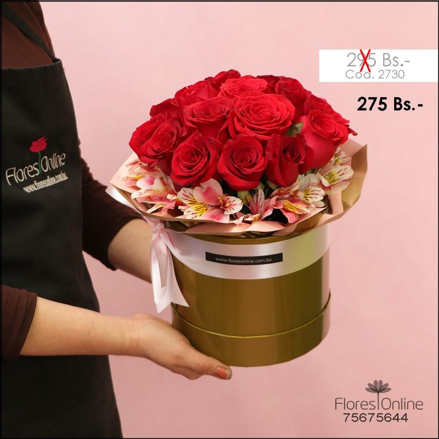 Arreglo Versalles 18 Rosas Rojas (Cod.2730)