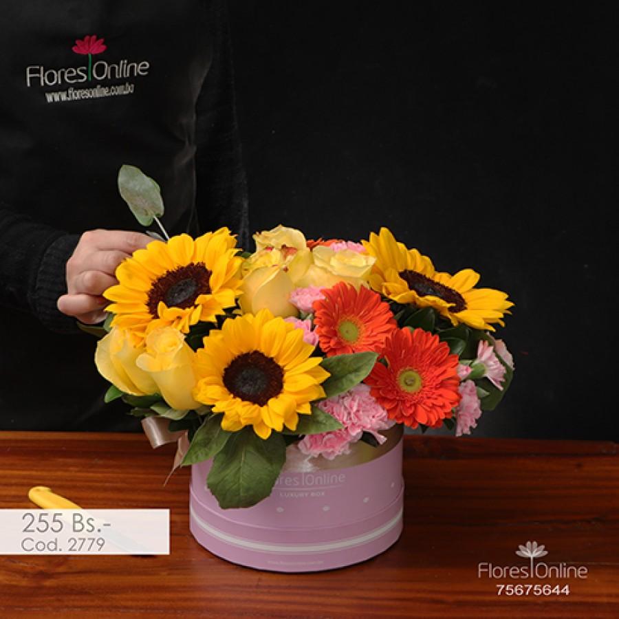 Primavera Girasoles y flores mix (Cod.2779)