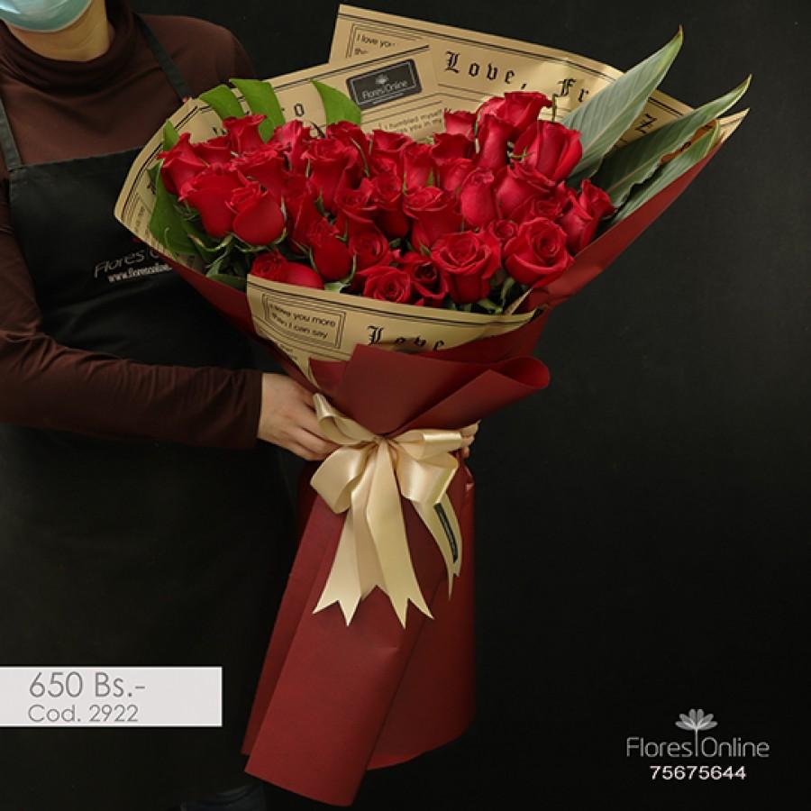 Bouquet Elite 50 Rosas (Cod.2922)