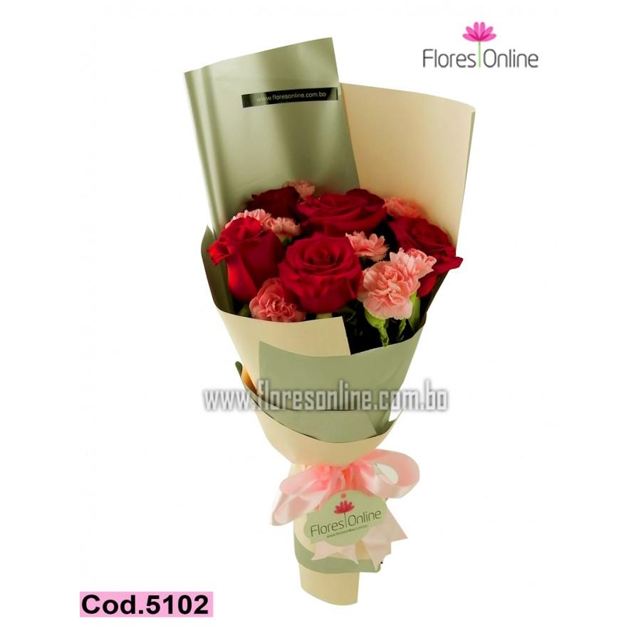 Rosas y Clavelinas (Cod.5102)