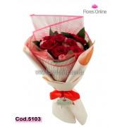 Bouquet 9 Rosas y Clavelinas (Cod.5103)