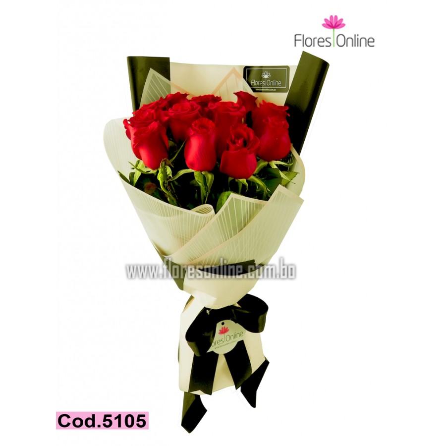 Bouquet Elegancia Negro y Rosado (Cod.5105)