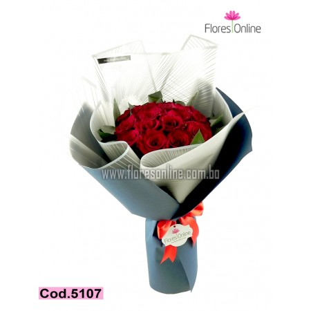 Bouquet Premium 18 Rosas (Cod.5107)