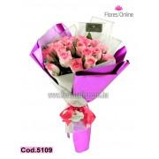 Bouquet 24 Rosas Malibu (Cod.5109)