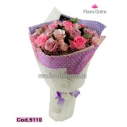 Bouquet 24 Rosas Pasteles (Cod.5110)