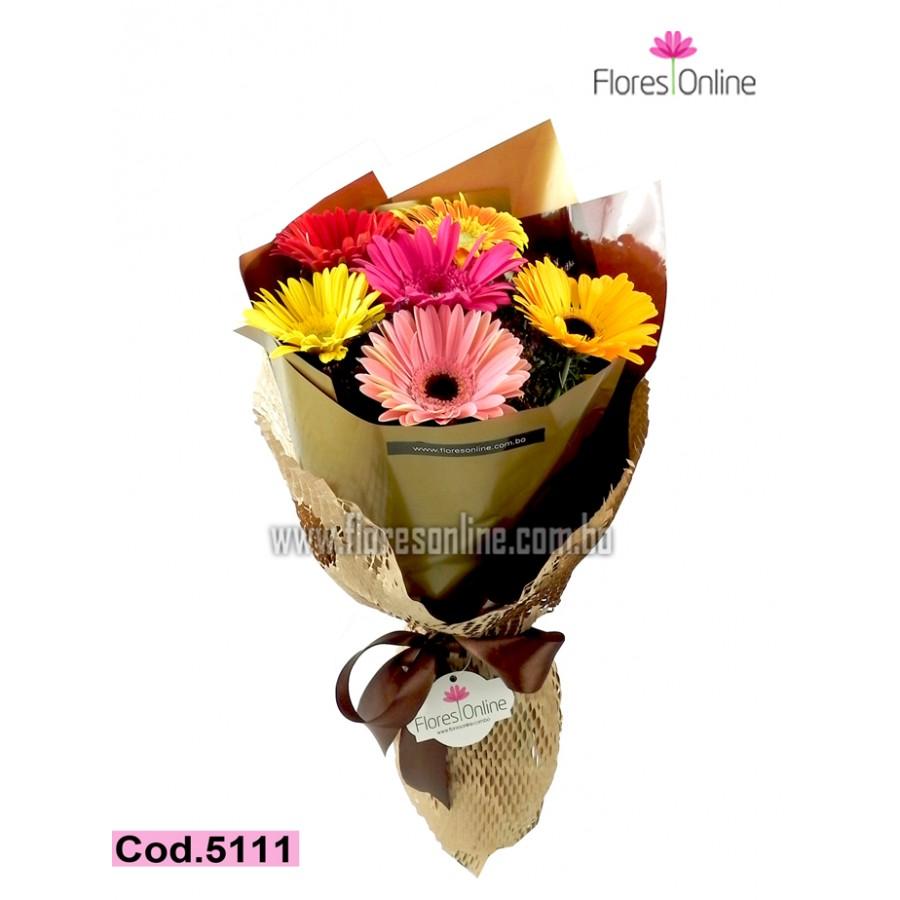 Bouquet 6 Gerberas Premium (Cod.5111)