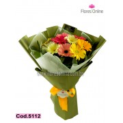 Bouquet Mix de Colores Gerbera (Cod.5112)