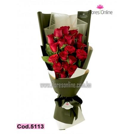 Bouquet Premium 24 Rosas (Cod.5113)