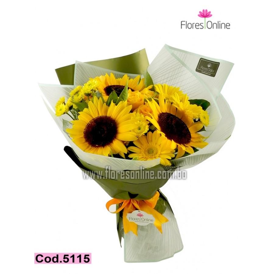 Bouquet Girasoles y Mix de flores (Cod.5115)