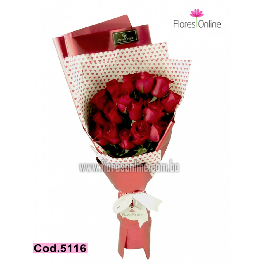Bouquet Romantico 24 Rosas (Cod.5116)