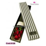 Caja Premium 6 Rosas (Cod.5128)