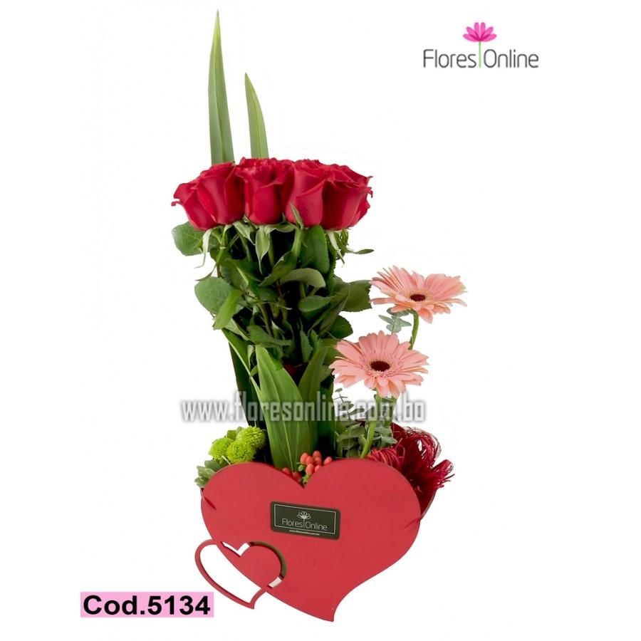 Corazones y Rosas (Cod.5134)