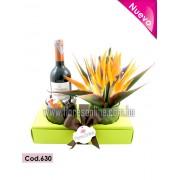 Flores, Chocolates y Vino