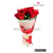 Bouquet 9 Rosas Premium (Cod.7206)
