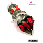 Bouquet Dots 9 Rosas(Cod.7207)