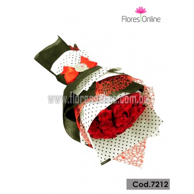 Bouquet Elite 18 Rosas Importadas(Cod.7212)