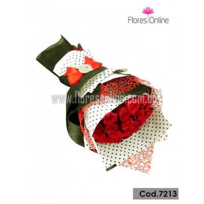 Bouquet Elite 25 Rosas Importadas(Cod.7213)