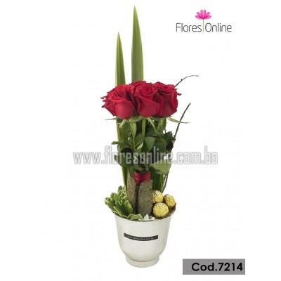 Rosas y Chocolates Para Mamá(Cod7214)