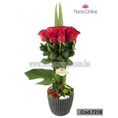 Arreglo Premium 18 Rosas Importadas (Cod.7218)