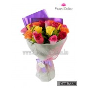 Bouquet Color y Alegria 24 Rosas (Cod.7220)