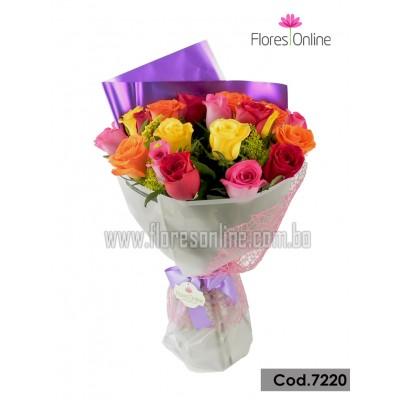 Bouquet Color y Alegria 24 Rosas (Cod.7220)