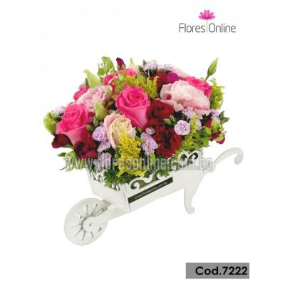 Carreta de Flores Mix (Cod.7222)