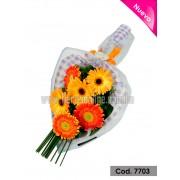 Bouquet Plano 6 Gerberas (Cod.7703)